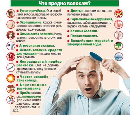 Вредные факторы из-за которых выпадают волосы